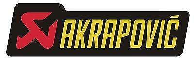 New Genuine Akrapovic Heat Proof Resistant Exhaust Sticker Decal Bmw S1000Rr Sys