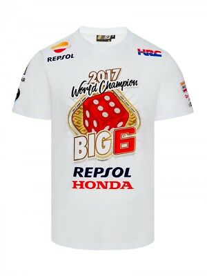 Marc Marquez 2017 Motogp World Champion BIG 6 Limited Edition T'Shirt