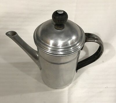 Antique Vintage Stainless Steel Coffee Pot
