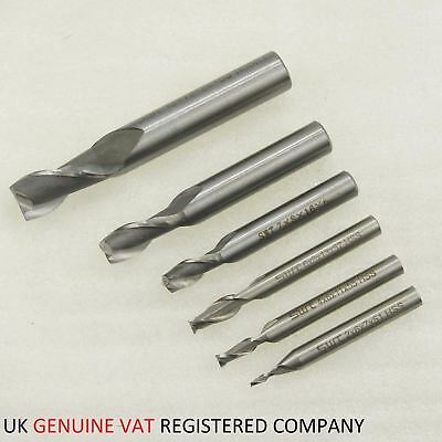 2 Flute End Mill Lathe Cutter Shank Slot Drill HSS 2 to 12MM