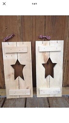 Rustic Primative Wooden Shutters For Decor.