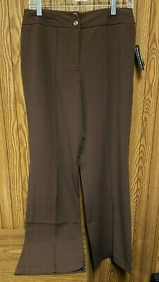 VERSAILLES Womens Brown Earth Washable Stretch Dress Pants Trousers Size 6 NWT