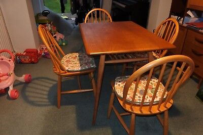Ercol Ladder Rack Dining Table With Chairs