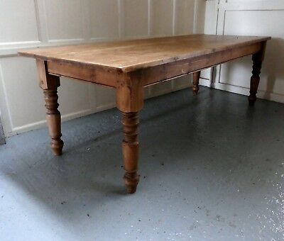 Large French Farmhouse Pine Table