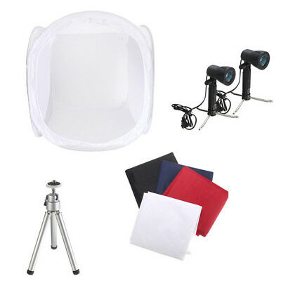 30 Inch Photo Photography Tent Shooting Box Softbox Studio Kit Set With Light An