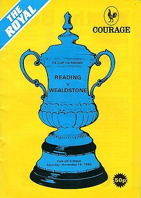 Programme Reading Fc (The Royal) Programmes X3 Fa Cup (1985, 1988 & 1989)