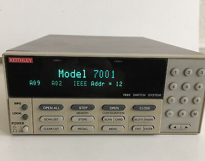 "Keithley 7001 Switch System Control/Mainframe TESTED ""Bright Display"""