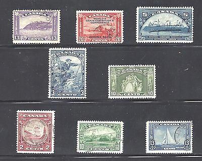 Canada SELECTION OF 1930's USED STAMPS SCOTT 201/215 MOSTLY VF CV $55 (BS10393)