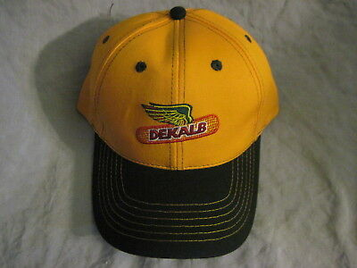 New DEKALB Green & Yellow HAT Cap ADJUSTABLE One Size FARM SEEDS