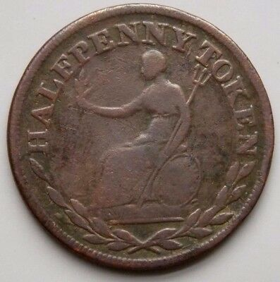 WE-2A2 Field Marshal Wellington Canada Canadian Colonial 1/2 Penny Token