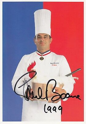 TOP : Original  Autogramm  PAUL  BOCUSE  -  franz. KOCH-LEGENDE
