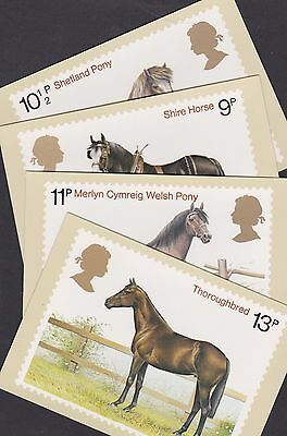Great Britain GB 1978 Unused Full Set PHQ Stamp Cards No 30 Horses Shetland Pony