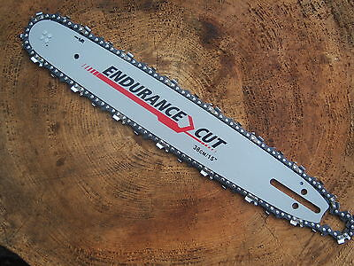 "15"" Chainsaw Guide Bar And Chain To Fit Husqvarna 64 Chain Links 325"" Pitch"