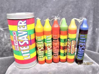 Vintage Can Of  (Life) Lite Savers 6 Candles  Made In Hong Kong Never Used