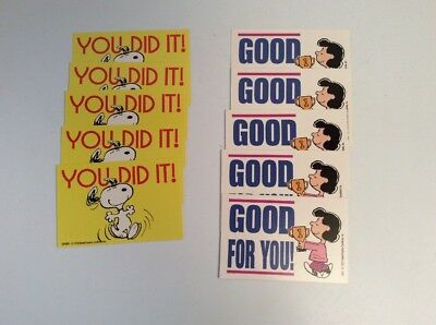 10 Snoopy Peanuts Lucy CONGRATULATIONS CARDS (business card size) FREE SHIP