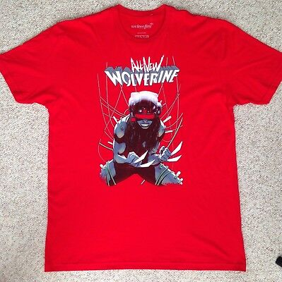 New Men(XL) ALL NEW WOLVERINE T-SHIRT X-men Red SOFT FIT 100%COTTON Marvel Comic