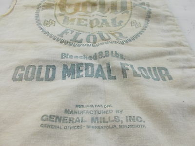 One Washburn's Gold Medal Flour Bags Cloth Vintage