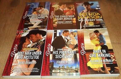 "DECEMBER 2017 - HARLEQUIN ""DESIRE"" ROMANCE BOOKS - Lot of 6 Great Sexy Reads!!!"