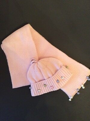GYMBOREE WINTER PRINCESS Pink Jingle Bell Scarf And Hat Set  NWT Size 3-4