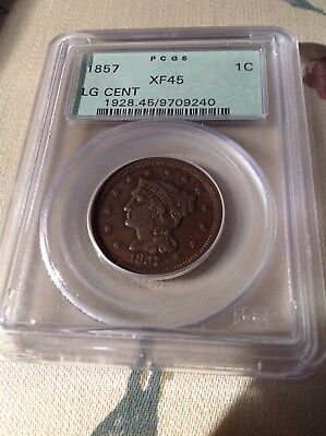 1857 large cent PCGS Old Green Holder