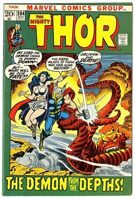 Thor #204 FN/VF 7.0 white pages  Marvel  1972  No Reserve