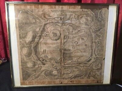 Early Antique Map City Of Jerusalem Juan Bautista Villalpando