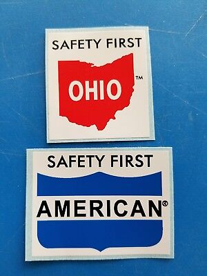 OHIO AMERICAN Railroad Crane Union Hardhat Stickers
