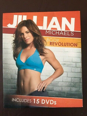Jillian Michaels Body Revolution 15 DVD Box Set + Guides
