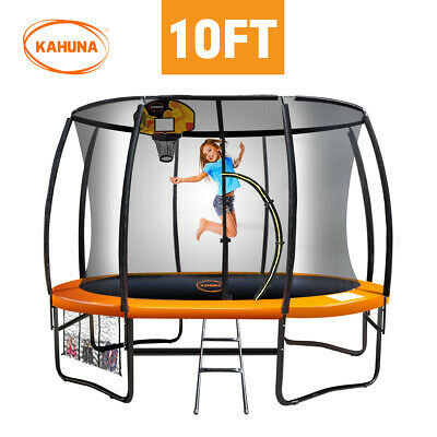 New Kahuna 10ft Trampoline Free Safety Net Mat Spring Pad Cover Mat Basketball