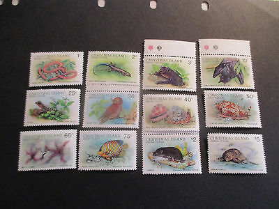 1--1987-Christmas  Island -Wild-Life Full  Set  Of 12 Stamps --Mint --Mnh----A1