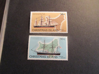 1--1987 Christmas  Island -Cent; Of Visit Of  Mms Ship's -2 Stamps  - Mint-Mnh-