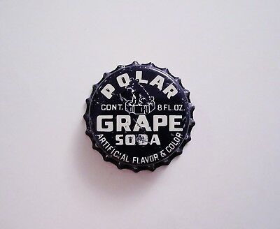~POLAR GRAPE SODA~ Soda Cola Cork Crown Cap SAN DIEGO CALIFORNIA ~RARE~ NEW CAP