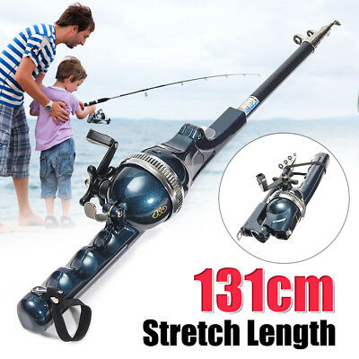 1.3M Super Light Carbon Telescopic Saltwater Sea Fishing Rod Spinning Pole AU
