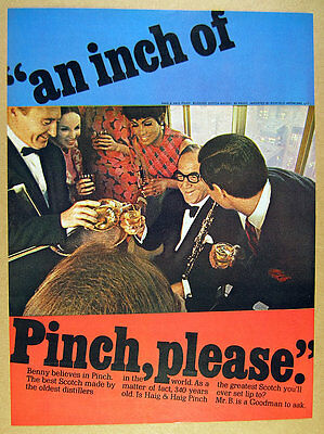 1967 benny goodman photo Haig & Haig Pinch Scotch vintage print Ad