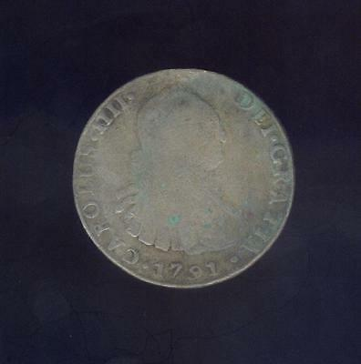 1791 Potosi 8 Reales From St. Croix, Ex: Mendel Peterson Coll. Free USA Shipping
