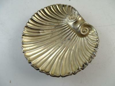 """Antique Sterling Silver Clamshell Bowl Dish Footed Vintage 4.25"""" Wide Victorian"""