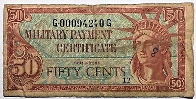 U.S.  Military Payment Certificate - 50 Cents MPC