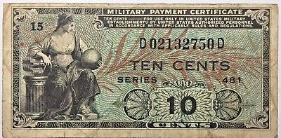 U.S. Military Payment Certificate - 10 Cents MPC