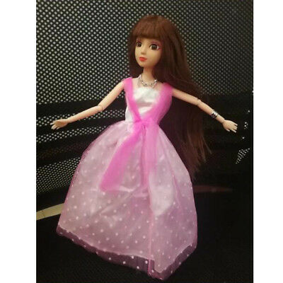Dolls Lace Pink Dresses Clothes For Barbie Doll Party Gown Skirt Outfit Accs