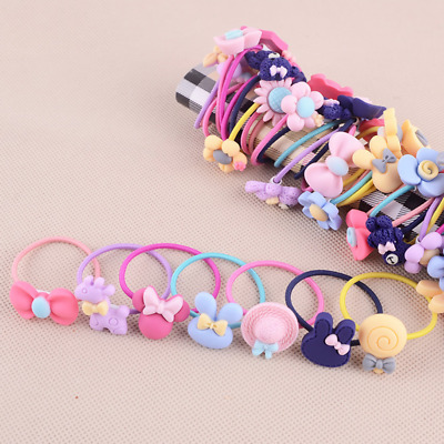 Hot 10Pcs Women Girls Hair Band Ties Rope Ring Elastic Hairband Ponytail Holder