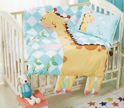 Cartoon Baby Cot Bed Quilt Cover Set Pure Cotton Pillowcase Promotion !