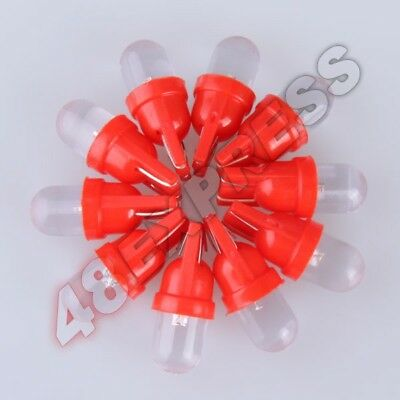 10pcs T10 Red LED Bullet Wedge Bulbs for Vehicle Lighting