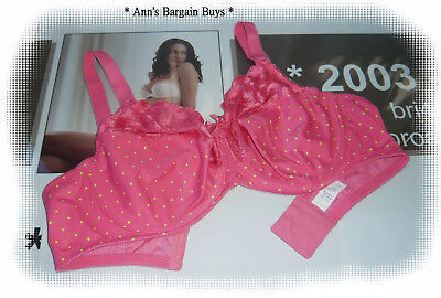 Formfit-Women's-Size-18D-Everyday Classic-Spotted-Lace Trim-U/W-Bra-Pink/Yellow