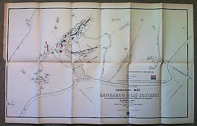 Original Map Kangaroo Hills Mineral Field Queensland 1892 Robert Logan Jack