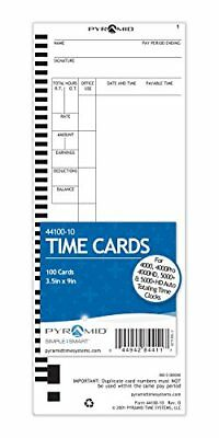 Pyramid 44100-10 Genuine Time Cards for 4000, 4000Pro, 4000HD, 5000 and 5000HD