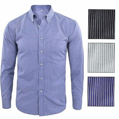 Camicia Uomo Manica Lunga a Righe Casual Classica Button Down GIROGAMA 2266CL