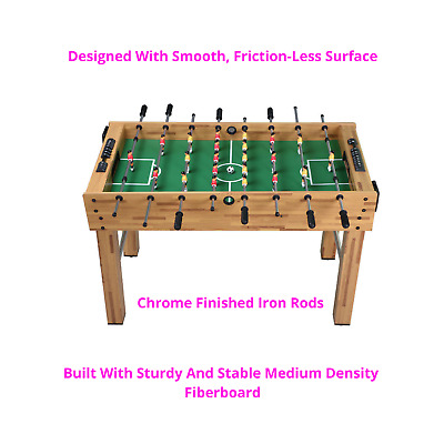 48'' Baby Foot Indoor Football Table Soccer Game Arcade Family Sport Quality NEW