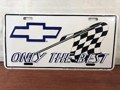 Chevrolet Only The Best Embossed Aluminum Chevy Advertising License Plate