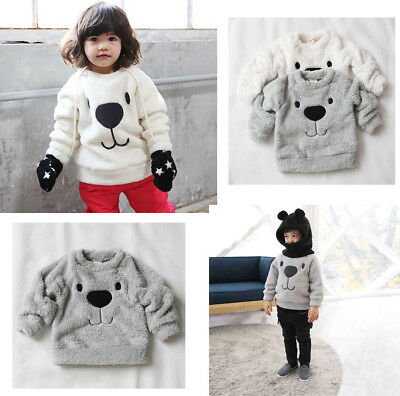Toddler Kids Baby Girls Printing Long Sleeve Warm Pullover Tops T-Shirt Blouses