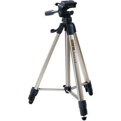 Sunpak Tripod With 3 Way Pan Head features 2 Quick Release Plates 5 Foot Tall Ne